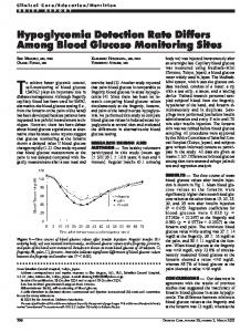 Hypoglycemia Detection Rate Differs Among Blood ... - Diabetes Care