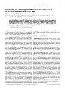 Hypoglycemic and Antihyperglycemic Effect of Gmelina asiatica LINN ...