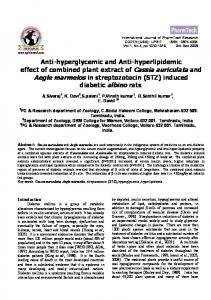 Hypoglycemic and hypolidemic effect of combined