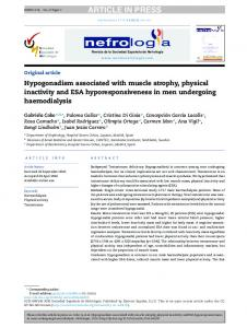 Hypogonadism associated with muscle atrophy, physical ... - Core