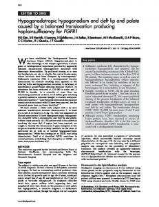 Hypogonadotropic hypogonadism and cleft lip and palate ... - NCBI