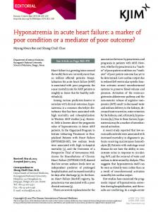 Hyponatremia in acute heart failure - The Korean Journal of Internal ...