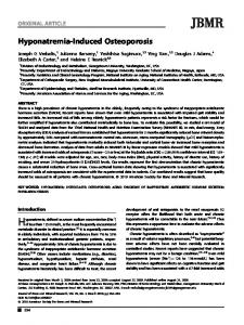 Hyponatremia?induced osteoporosis
