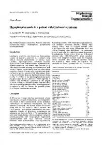 Hypophosphataemia in a patient with Gitelman's syndrome