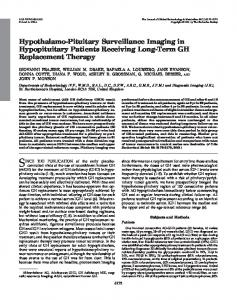 Hypothalamo-Pituitary Surveillance Imaging in ... - Oxford Journals