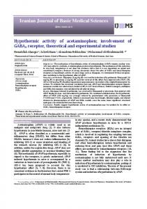 Hypothermic activity of acetaminophen; involvement of GABAA