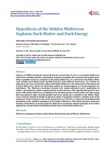 Hypothesis of the Hidden Multiverse Explains Dark Matter and Dark ...
