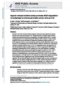 Hypoxia-induced oxidative stress promotes MUC4