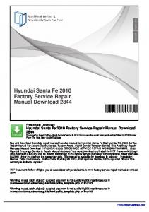 2007 hyundai entourage service manual