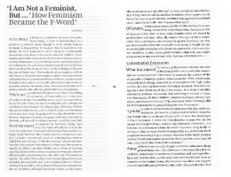 I am not a feminist but - How Feminism Became the F-Word by Toril ...