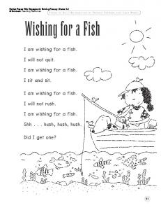I am wishing for a fish. I will not quit. I am wishing for a ... - Scholastic