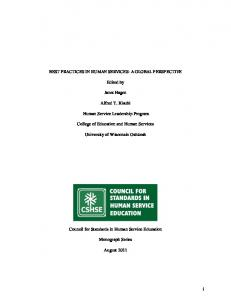 i BEST PRACTICES IN HUMAN SERVICES - Council for Standards in ...
