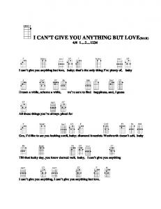 i can't give you anything but love(bar) - Doctor Uke