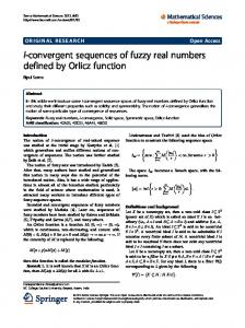 I-convergent sequences of fuzzy real numbers
