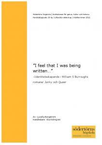 """I feel that I was being written…"""" - DiVA"""