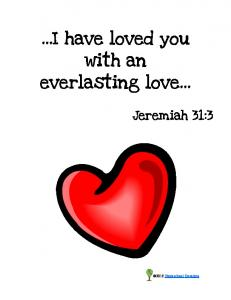 I have loved you with an everlasting love - Homeschool Creations