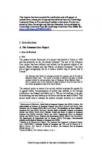 I. Introduction - SSRN papers