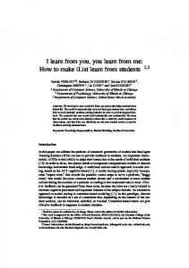I learn from you, you learn from me: How to make iList learn from ...