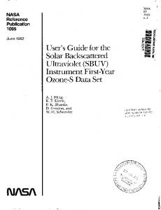 I NASA RP ' 1095 - NASA Technical Reports Server (NTRS)