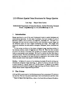 I/O-Efficient Spatial Data Structures for Range Queries