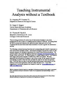 IA without a Textbook