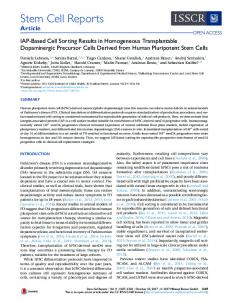 IAP-Based Cell Sorting Results in Homogeneous ... - Cell Press
