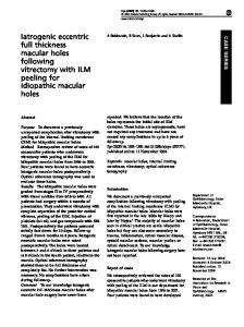 Iatrogenic eccentric full thickness macular holes following ... - Nature