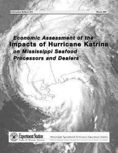 IB435 Economic Assessment of the Impacts of Hurricane Katrina on ...