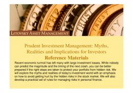 IBD Prudent Investment Management reference materials - Meetup