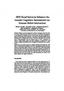 IBM Cloud Services Enhance Au- tomatic Cognitive