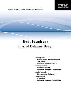 IBM DB2 for Linux, UNIX, and Windows Best Practices Physical ...