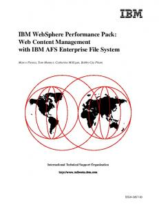 Deployment Pack for CA Introscope® with IBM WebSphere