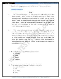 iBT TOEFL READING PRACTICE (1) - English Test Practices