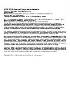 ICAP 2014 Abstract Submission website