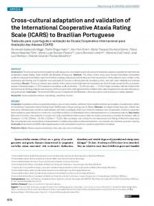 (ICARS) to Brazilian Portuguese - SciELO