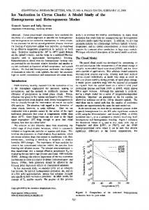Ice nucleation in cirrus clouds: A model study of ... - Wiley Online Library