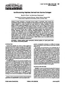Ice-Structuring Peptides Derived from Bovine Collagen - American ...