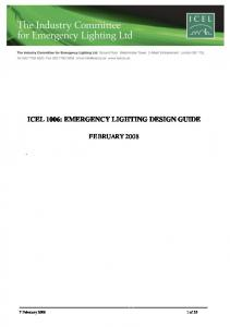 ICEL 1006: EMERGENCY LIGHTING DESIGN GUIDE