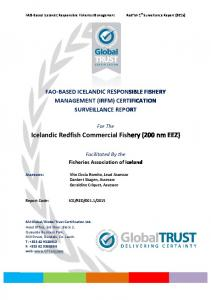 Icelandic Redfish Commercial Fishery - Iceland Responsible Fisheries