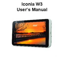 Iconia W3 User's Manual