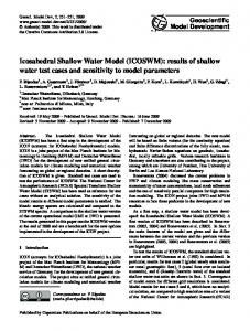 Icosahedral Shallow Water Model (ICOSWM): results of shallow water ...