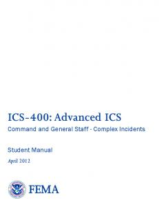 ICS-400: Advanced ICS