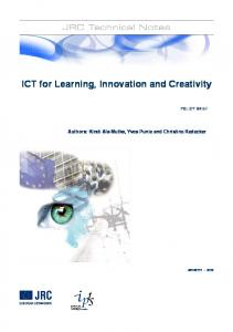 ICT for Learning, Innovation and Creativity - CiteSeerX