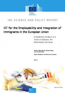 ICT for the Employability and Integration of Immigrants in the ...