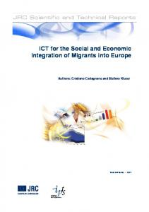 ICT for the Social and Economic Integration of Migrants into Europe