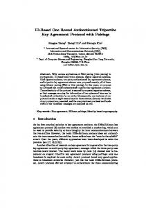 ID-Based One Round Authenticated Tripartite Key Agreement Protocol ...