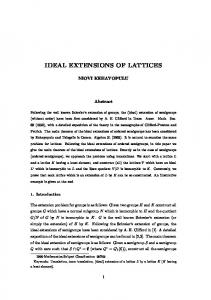 IDEAL EXTENSIONS OF LATTICES