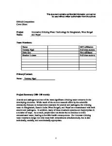 IDEAS Competition Cover Sheet Project Innovative ...
