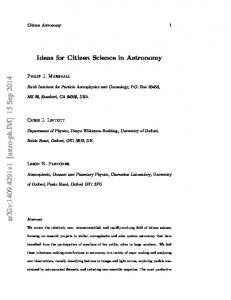 Ideas for Citizen Science in Astronomy