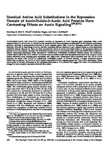 Identical Amino Acid Substitutions in the Repression Domain of Auxin ...